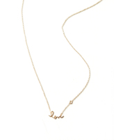 Shy by Sydney Evan Love Necklace with Diamond Bezel