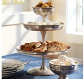 Pottery Barn Antique Silver Round Tiered Stand