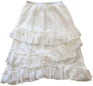 Suncoo White Cotton Skirt for Women