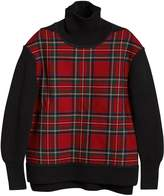 Burberry tartan panel turtleneck jumper
