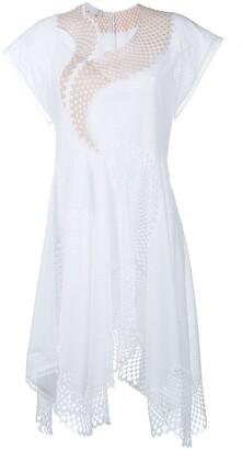 Stella McCartney Asymmetric Mesh Dress