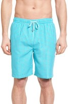 Peter Millar Men's Gingham Swim Trunks