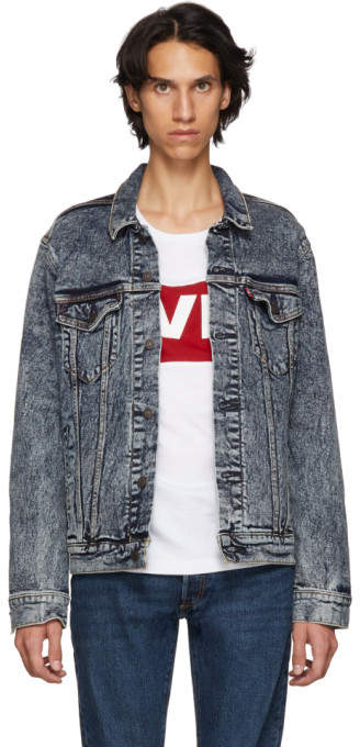 Levi's Levis Blue Bleach Trucker Denim Jacket