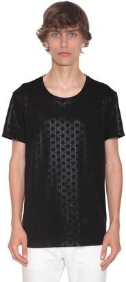 Balmain Bb Monogram Print Cotton Jersey T-Shirt