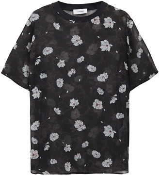 Carven Floral-print Georgette Top