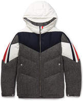 Moncler Gamme Bleu - Panelled Wool And Shell Hooded Down Jacket