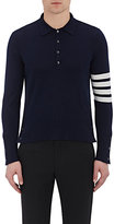 Thom Browne Men's Varsity Polo Sweater-NAVY