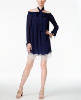 MICHAEL Michael Kors Off-The-Shoulder Lace-Hem Dress