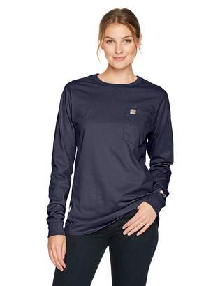 Carhartt Flame Resistant Womens Force Cotton Long Sleeve Crew T Shirt