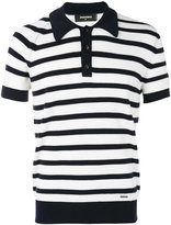DSQUARED2 striped polo shirt - men - Wool - S