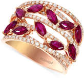Effy Ruby (1-1/2 c.t. t.w.) and Diamond (1/2 c.t. t.w.) Ring in 14k Rose Gold