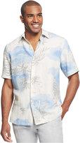 Tasso Elba Palm Print Shirt