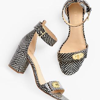 Talbots Beatrice Turnlock Sandals - Ocelot