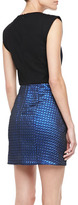 Tibi Sleeveless Quilted Jacquard Dress
