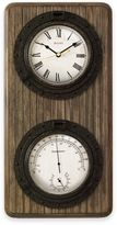 Bulova Montery Wall Clock and Weather Station in Antique Coffee