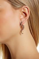 Betsey Johnson Pave Snake Jacket Earrings