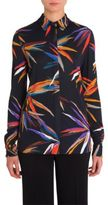 Emilio Pucci Jersey Button Up Blouse