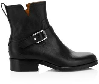 Rag & Bone Abel Buckle Leather Moto Boots