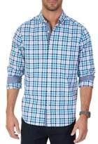 Nautica Bay Classic-Fit Plaid Stretch Button-Down Shirt