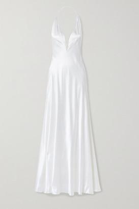 Michael Lo Sordo Alexandra Silk-satin Gown