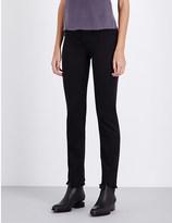 J Brand Maria straight high-rise frayed-hem jeans