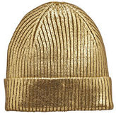 Very Metallic Beanie in Gold