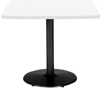 """KFI Studios Mode Square Pedestal Table Base Finish: Black, Top Finish: Designer White, Size: 36"""" H x 30"""" L x 30"""" W"""