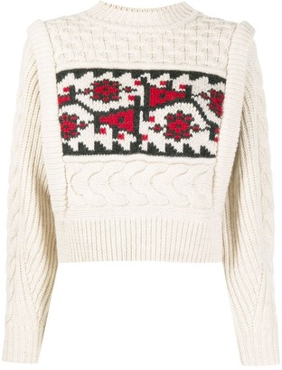 Etoile Isabel Marant Cable-Knit Are Neck Jumper