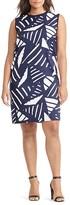 Lauren Ralph Lauren Plus Geo Print Mixed Media Dress