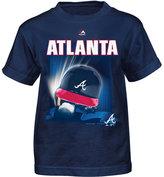 Majestic Little Boys' Atlanta Braves Kinetic Helmet T-Shirt