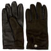 UGG Smart Snap Black Leather Gloves