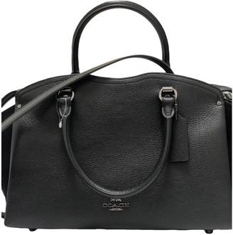 Coach Crossgrain Kitt Carry All Black Leather Handbags