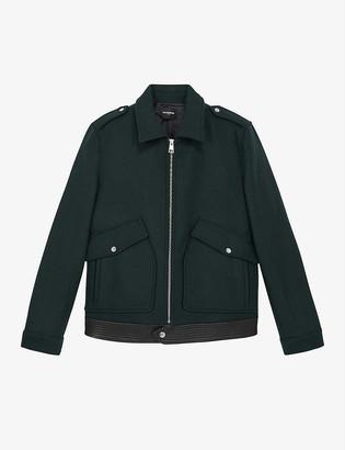 The Kooples Zip-up wool-blend jacket