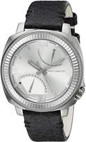 Vince Camuto Men's VC/1003SVDS The Veteran -Tone Dial Dark Grey Leather Strap Watch