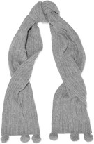 N.Peal Cashmere Cable-knit cashmere scarf