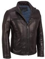 Wilsons Leather Mens Stand Up Collar Lamb Scuba Jacket