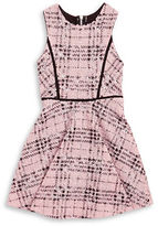 Sally Miller Girls 7-16 Marled Plaid Fit-and-Flare Dress