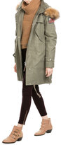 True Religion Cotton Parka with Faux Fur-Trimmed Hood