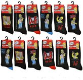The Simpsons Pack of 12: Mens Official Socks In - Various Assorted Designs
