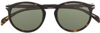 David Beckham Tortoise-Shell Round Sunglasses