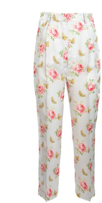 Prada Mixed Print Trousers