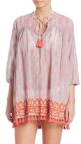 Roberta Roller Rabbit Pom-Pom Trim Serafina Cotton Tunic Coverup