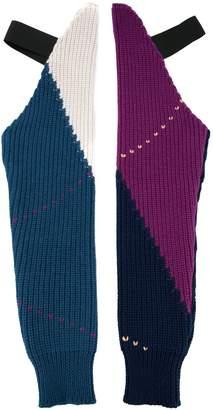 Raf Simons colour-block gloves