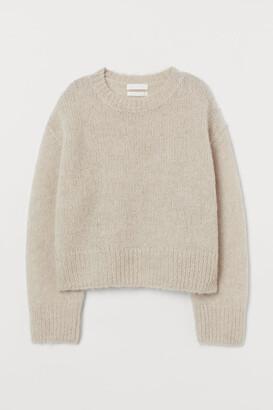H&M Knit Wool-blend Sweater - Brown