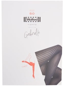 Wolford Gabrielle Diamond-knitted Tights - Black