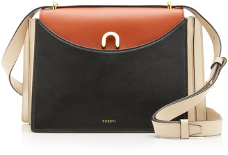 Yuzefi Eloise Color-Block Leather Shoulder Bag