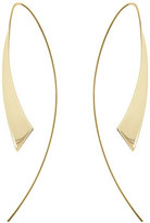 Lana Medium Gloss Thread-Through Hoop Earrings