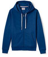 Lands' End Men's Tall Long Sleeve Serious Sweats Full-zip Hoodie-Dark Bay Blue