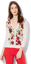 New York & Co. 7th Avenue - V-Neck Chelsea Cardigan - Floral