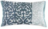 Pier 1 Imports Shaded Damask Striped Aqua Lumbar Pillow